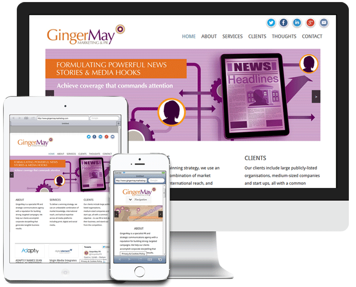 GingerMay Marketing Screenshot