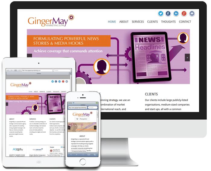 GingerMay Marketing Screenshot