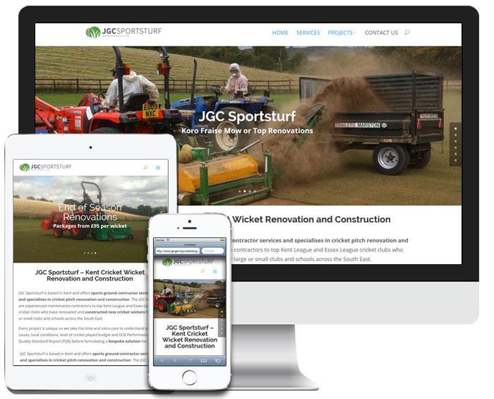 JGC Sportsturf Gravesend - Responsive Web Design